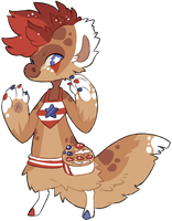 [BAGBEAN] 4th of July Waffle DTR by ShiroTheWhiteWolf