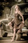 Samantha and the Chevy by nikongriffin