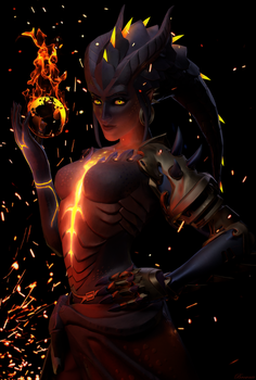 [Overwatch] Symmetra : Dragon by The-Brownie