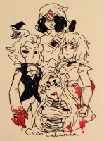 Raven Diamond's Court: Vampire AU by CocoCabanna