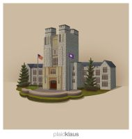 Burrus Hall (Virginia Tech) by plaidklaus