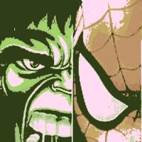 Spider-Man and Hulk pop art by DevintheCool