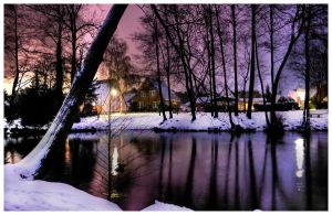 Snowy Village by teuphil