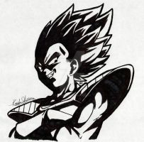 Sharpie Art:Prince Vegeta by Daringashia