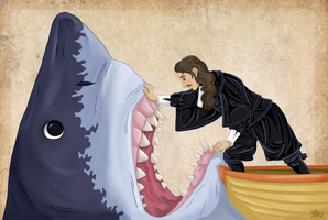Nicolaus Steno and his Megalodon by Pelycosaur24