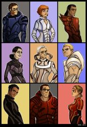 Mass Effect - aliens as humans by Enife
