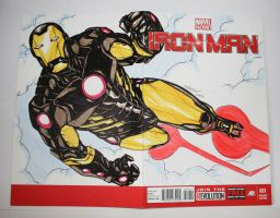 IRON MAN marvel now variant sketch cover comic by mdavidct