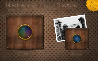 Niepces Camera Obscura Icons by kremalicious