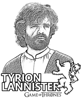 Game of Thrones Tyrion Lannister by Topcoloringpages