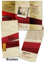 Beige and Red Brochure by su-graphic