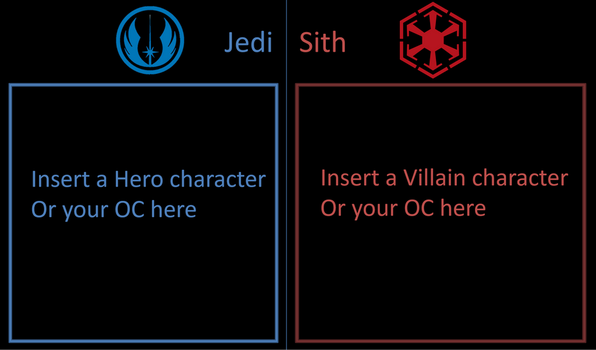 Jedi and Sith templates by DANIOTHEMAN