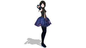 Yandere Append From ItsFunneh MMD DL by Creeperless