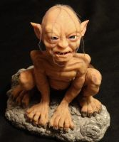 OOAK Lord Of The Rings Gollum Clay Sculpture Pic#1 by GeorgeCalado