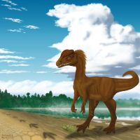 Eubrontes for Dinosaur State Park, CT by MicrocosmicEcology