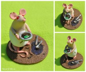Mud Pi - OOAK Rattie by StarBrux