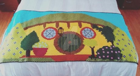 The Hobbit blanket by CrochetNinjaCL