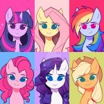 Mane 7/6 icons by kirionek
