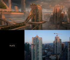 Monolithic matte painting concept by Daazed-DA