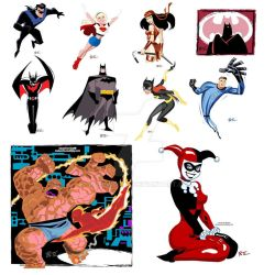 Tracing Bruce Timm by roelworks