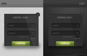 FREE login PSD by GamblerArtist by Gamblerdesign