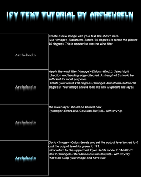 Icy Text Tutorial by Archekoeln