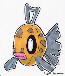#349 Feebas by little-ampharos