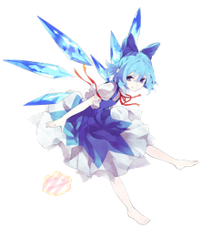 Touhou Project - Cirno [render] by Candy-Witch