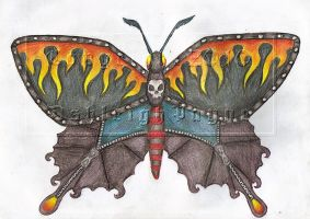 Punk Butterfly by BloodMoonEquinox