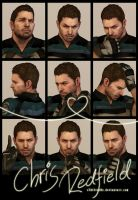 9 Faces Photo-shoot - Chris Redfield by xTh13teeNx
