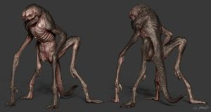 3D Creature Design: The Alien Rock Grubber 3D by JSMarantz