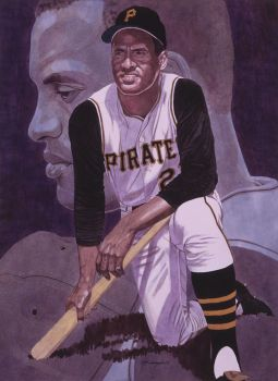 Roberto Clemente Pittsburgh Pirates by MSCampbell