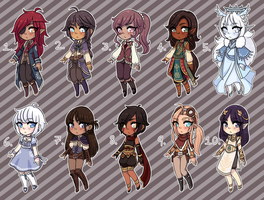 [Closed] Fantasy Adopts 4 by princesawyer