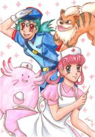Officer Jenny and Nurse Joy by Tamao