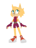 Un-named Sonic OC by KbKelly1357