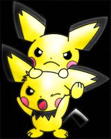 Angry Pichu's by MeatSheild
