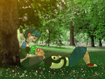 Gwuncan at the park by CateArmstrongTD
