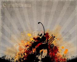 Wallpaper: listen to the music by webgraphix