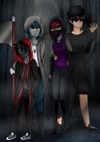 Family of reapers by Pinkwolfly