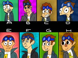 Geordee but in different styles (CLOSED) by Thepicausno