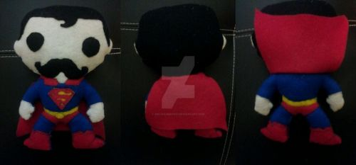 Superman(With a Mustache) Plush by SinLikeUMeanIt
