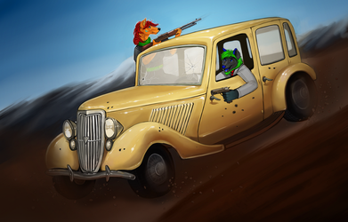 Bonnie and clyde by little-owlette