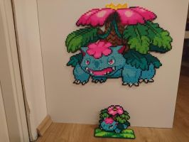 Pokemon #27 - Mega Venusaur + mini by MagicPearls