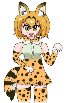 Gift: Serval MEOW MEOW MEOW by cottoncloudyfilly