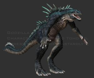 Godzilla Redesign Z brush Sculpt by MikeDastardly