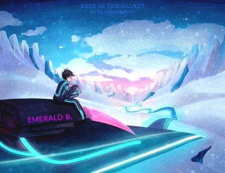 Poster Race In The Galaxy by giantlady