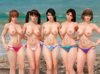 Dead or Alive DOA Venus Topless II by RadiantEld