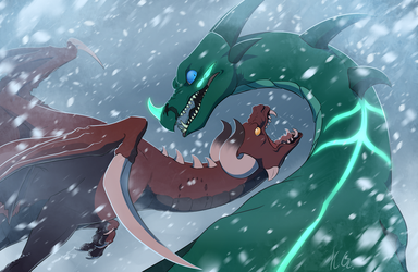 Snow Fight by KlaraGibson
