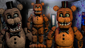 C4D| New Fixed Withered Freddy by YinyangGio1987