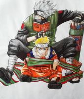 Naruto + Kakashi: Quiet in the Library Please! by Lukitzo