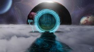 The teleportation portal from another world by 30SecondsofArt